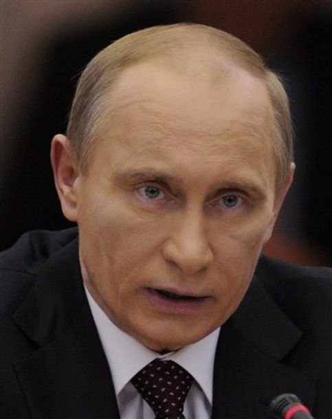 Синяк на лице у Путина (5 фото)